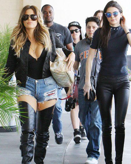 Kim Kardashian's sister flaunted her ample assets