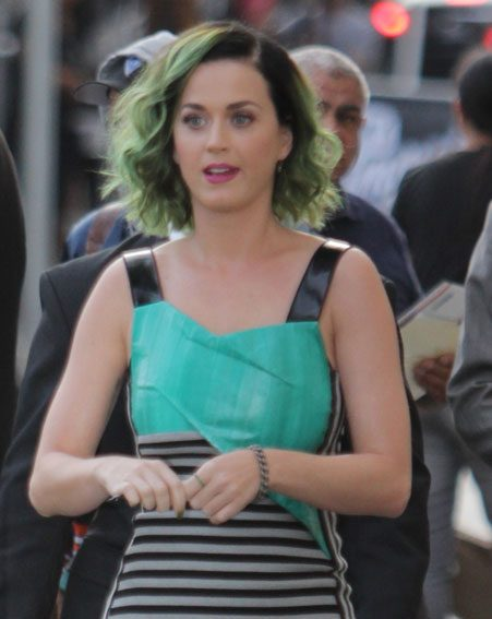 Katy Perry was spotted last month with green hair