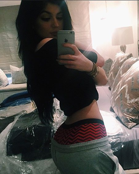 Kylie Jenner jumped on the belfie bandwagon with this controversial snap
