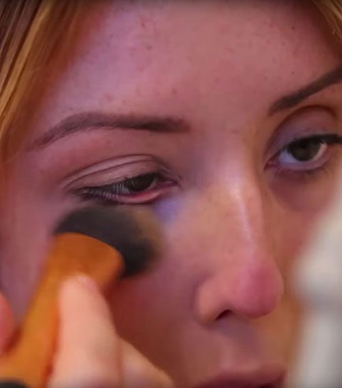 The reality star had no qualms about using the same brush for different tasks