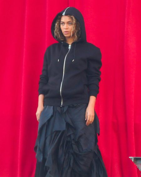 Beyonce enlisted the help of a stunt woman for her latest video shoot in LA