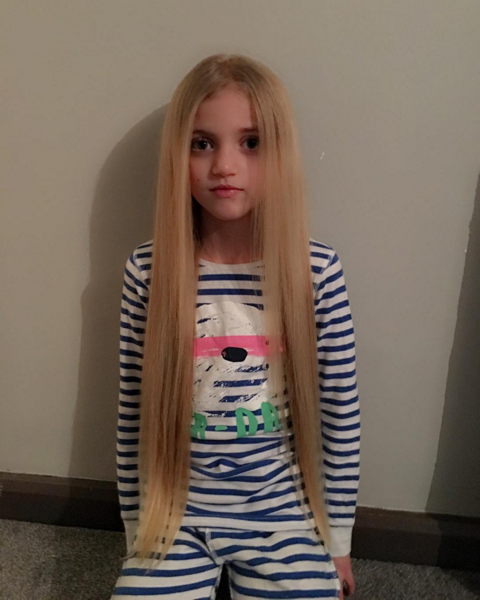 Katie Price had to defend straightening her daughter Princess' hair
