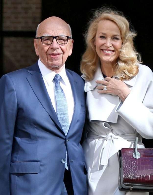 Jerry Hall and Rupert Murdoch went public with their relationship in October