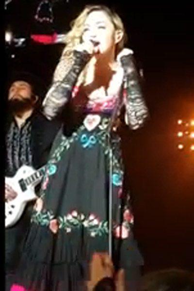 Madonna spoke of the sad death of her friend David Bowie