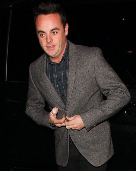 Ant McPartlin suffered a veg-chopping-related injury