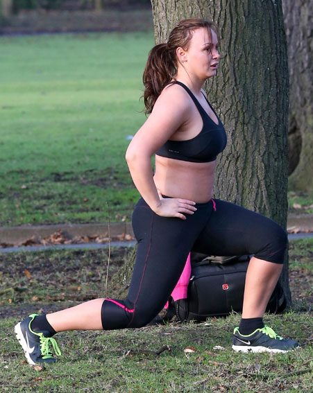 Chanelle Hayes lunged her weight gain away with the help of a pushy personal trainer