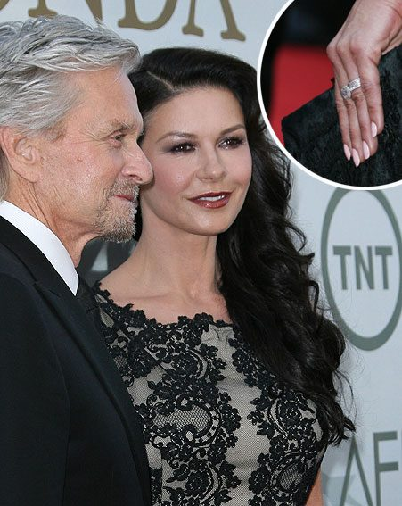 Catherine Zeta Jones comes in a modest ninth pace with a ring that costs over half a million pounds...
