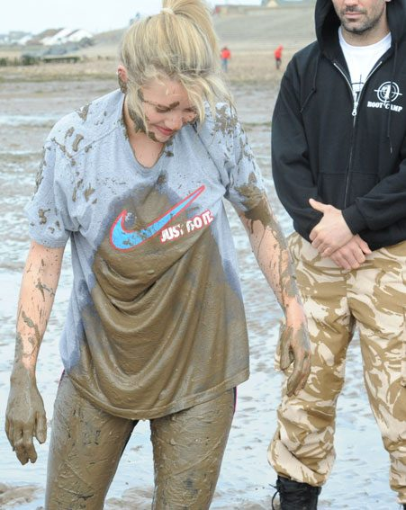 The former MIC star tried her hand at mud wrestling which looks like a whole lot of fun