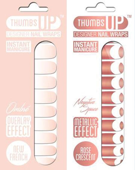 Thumbs Up Nails recommend their New French design and Metallic Cres design
