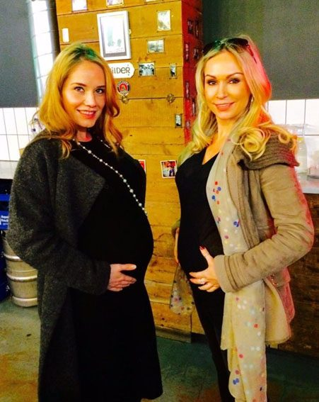 Kristina Rihanoff proudly shows off baby bump with former Strictly Come Dancing pal Katya Virshilas