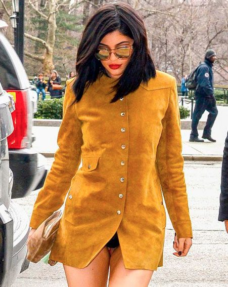 Kylie Jenner accidentally flashes knickers in thigh-skimming dress