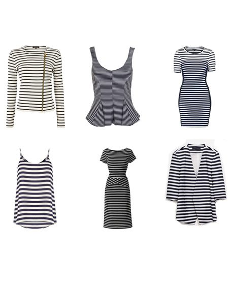 Clockwise: Cardigan, £80, Jaeger; Vest, £25m Miss Selfridge; Dress, £30, Topshop; Blazer, £79.99, Zara; Dress, £49, Marisota; Cami, £25, Oasis
