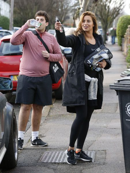 Arg was spotted with a fuller figure with Ferne