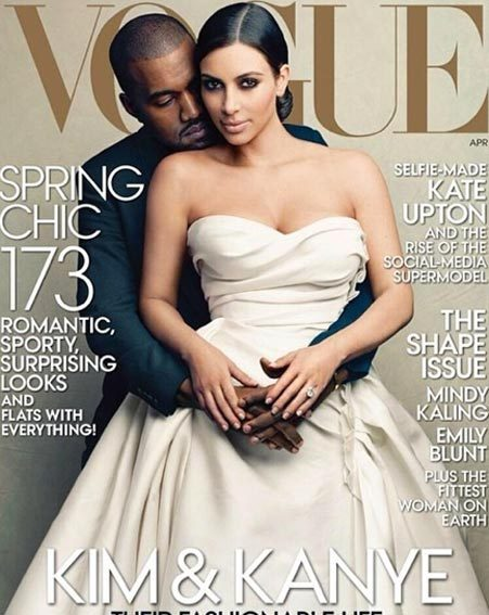 Kim Kardashian and Kanye West finally feature on the cover of Vogue