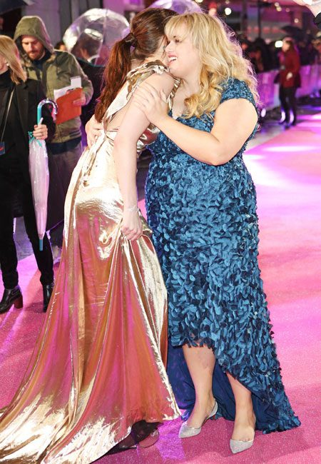 Dakota was delighted to be reunited with Rebel Wilson