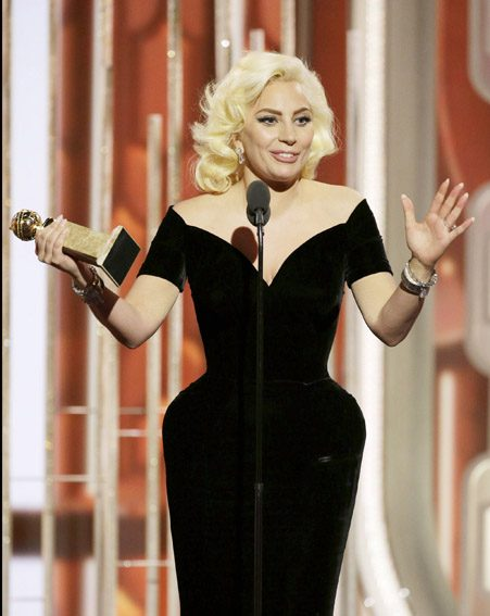 Lady Gaga won a Golden Globe