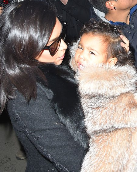 The little fashionista has been pictured wearing fur in the past