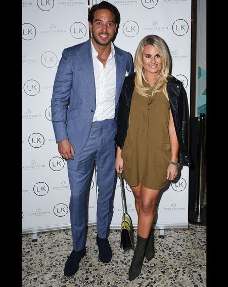 Danielle Armstrong supports her ex-boyfriend TOWIE star James Lock at the launch of his new restaurant 'Lockie's Kitchen' in Essex