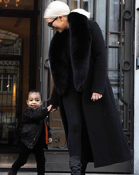 North West joined her mum for an outing in Paris for the first time on Thursday