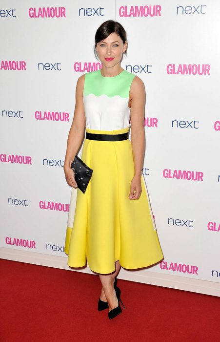 Brunette beauty Emma Willis looked simply stunning in her bright ensemble