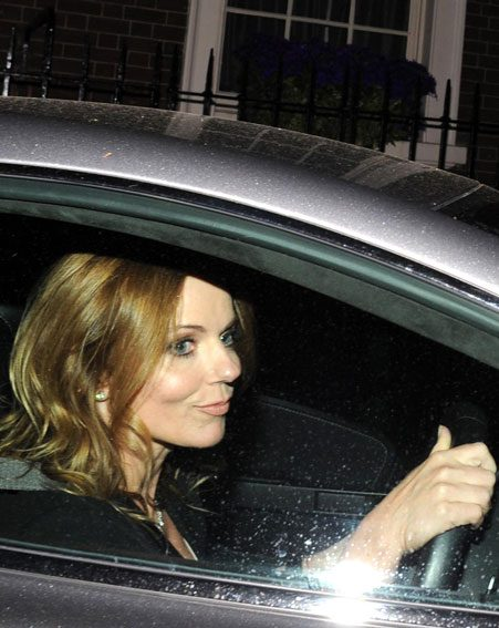 Geri Halliwell looked smug as she drove off stone cold sober
