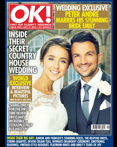 Peter Andre and Emily Macdonagh shared their wedding in OK! magazine