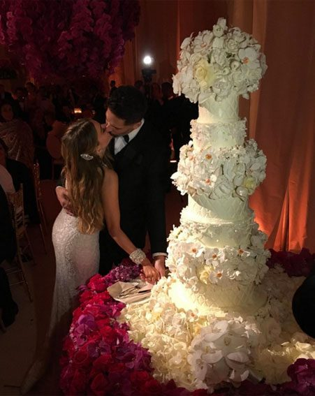 Sofia Vergara and Joe Manganiello's wedding cake was stunning