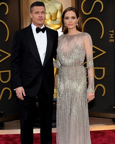 Brad Pitt and Angelina Jolie were the hottest couple to hit the Oscars red carpet