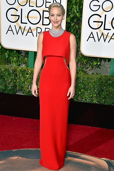 Jennifer Lawrence made the perfect statement in this red number