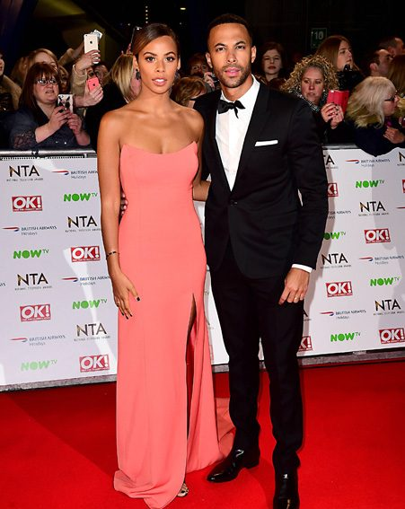 Rochelle and Marvin Humes looked flawless as they posed for pictures on the red carpet