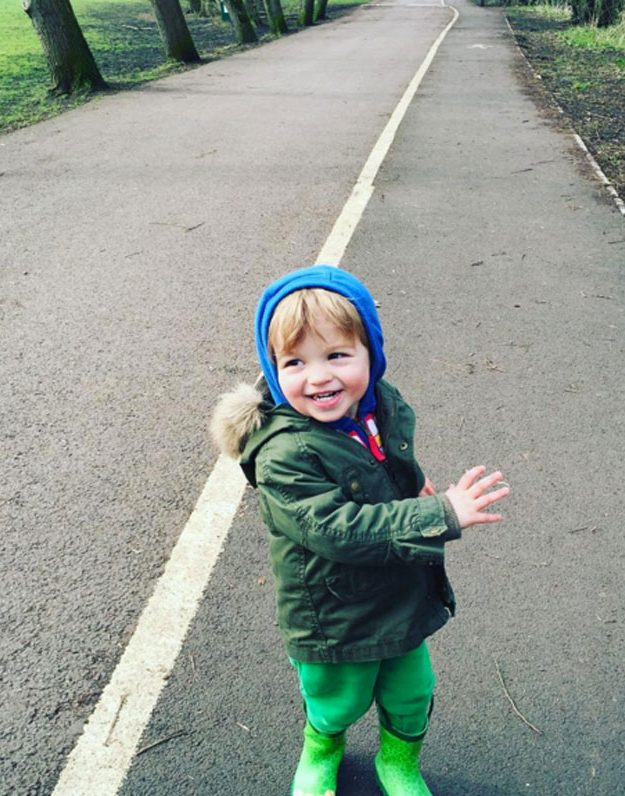 Giovanna Fletcher shared this cute snap of Buzz