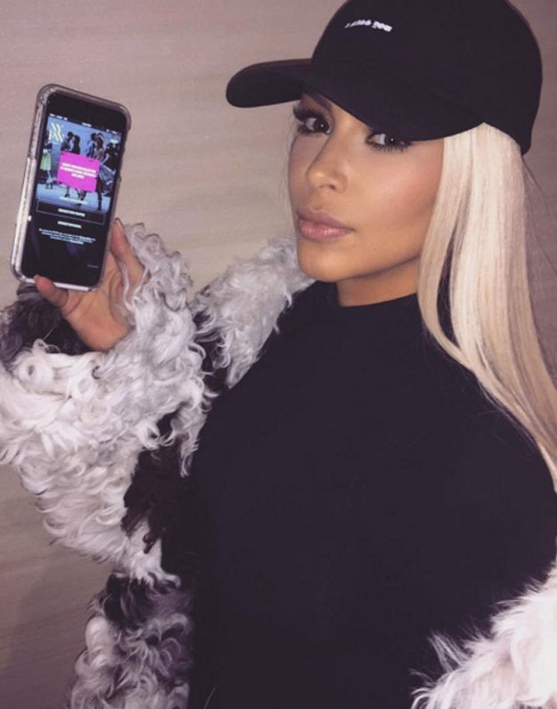 Kim Kardashian revealed she had joined Snapchat