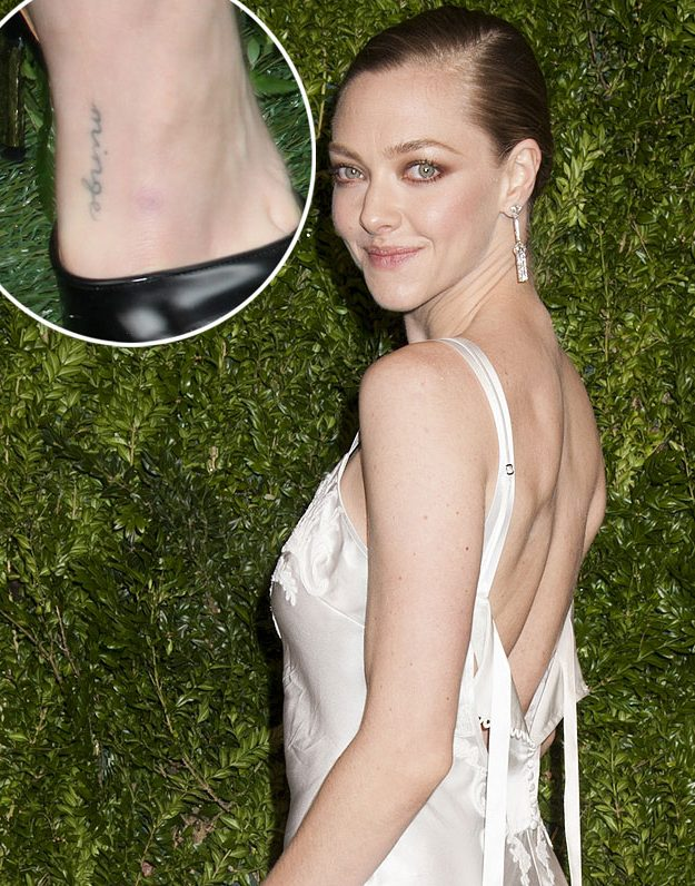 Amanda Seyfried's choice of words are rather shocking but sentimental at the same time