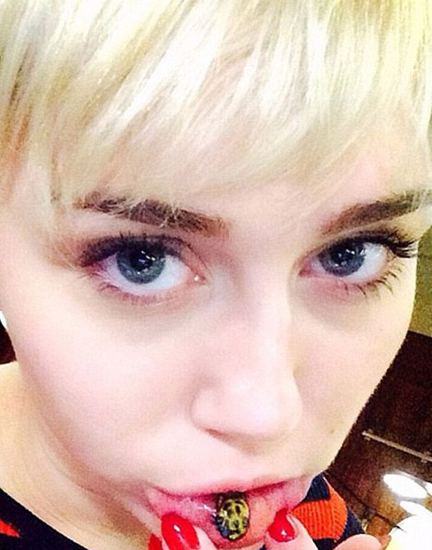 Miley Cyrus of course had the most difficult part of her skin inked