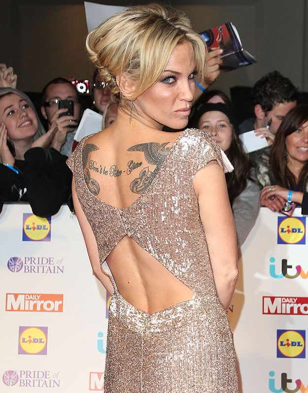 Sarah Harding didn't send a subtle message to her fellow band members
