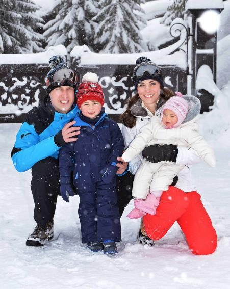 The Duke and Duchess of Cambridge enjoy their holiday at the French Alps with their beautiful children George and Charlotte