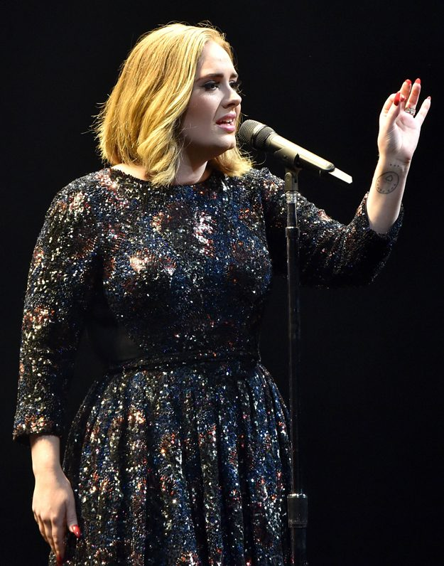 Adele congratulated 2 of her fans on their engagement during her show