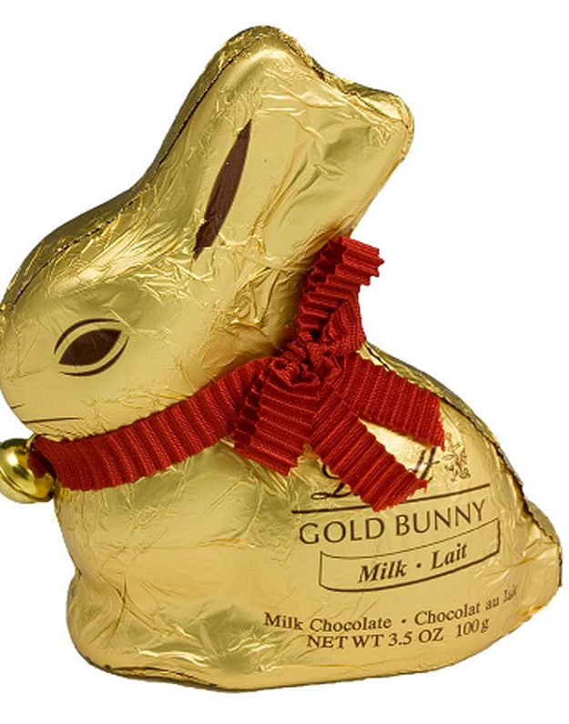 A chocolate Lindt bunny is essential at Easter if you ask us