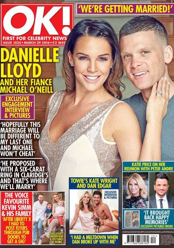 Danielle Lloyd revealed her engagement news exclusively to OK! magazine