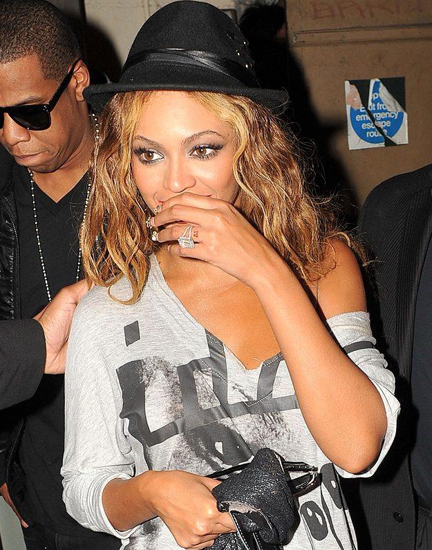 Beyoncé has her wedding number on her ring finger