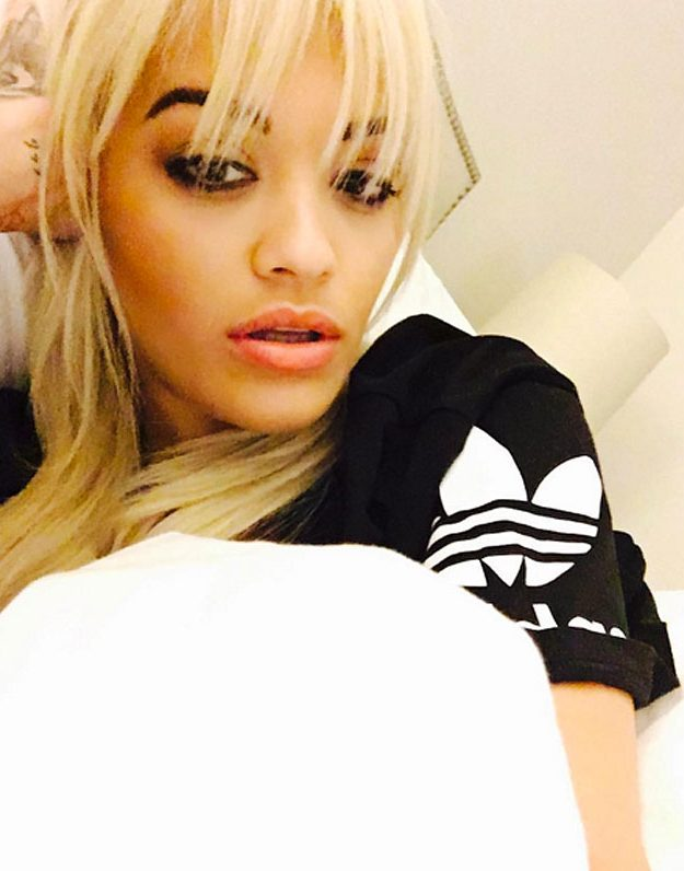 Rita Ora has a selection of tiny tatts to show off