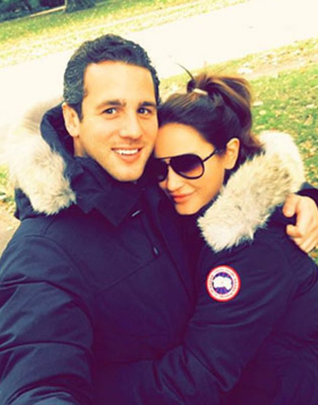 Sam Faiers and boyfriend Paul Knightley in their Canda Goose parkas