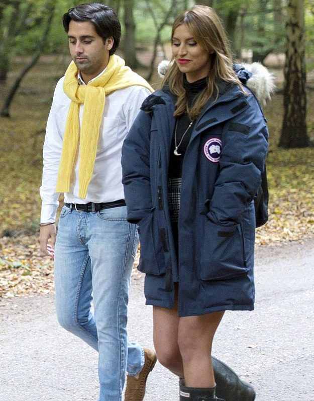 Ferne McCann wears Canada Goose on the TOWIE set